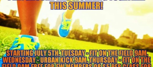 Summer outdoor workout schedule at Capitolo Playground!
