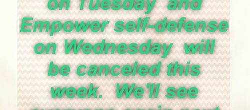 Canceled this week!