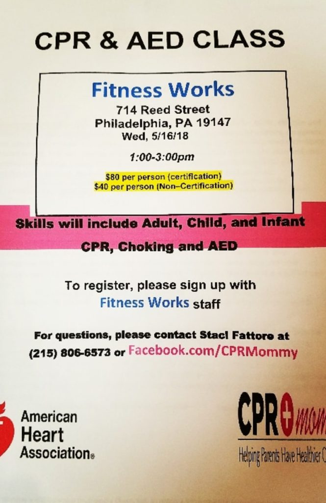 Cpr And Aed Class Fitness Works Philadelphia